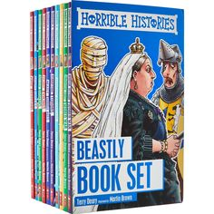 Buy Horrible Histories Beastly Book Set at TK Maxx Horrible Histories, Waiting Rooms, Tk Maxx, Learning Toys, Romans, Vikings, Kids Toys, Christmas 2017, History