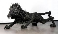 Sculptures animalière en pneu, par Yong Ho Ji