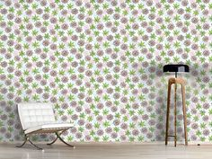 Design #Tapete Blümchen Und Blättchen