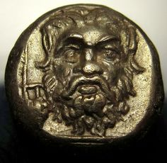SATYR AND APOLLO.VERY RARE Ancient Greek Gold Coin.Lesbos.Mytilene. Gorgeous