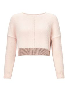 PETITE Pink Fluffy Knitted Jumper