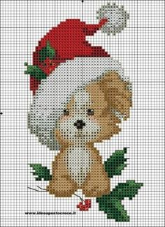 christmas dog cross stitch by syra1974