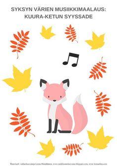 Taideluontokasvatus: Syksyn musiikkimaalaus: sateen ropinaa, värien hehkua Nature Crafts, Fall Crafts, Crafts For Kids, Arts And Crafts, Diy Crafts, Outdoor Learning, Early Childhood Education, Preschool, Snoopy