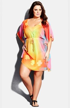 007f4c8aff City Chic  Sundance  Caftan (Plus Size) available at  Nordstrom Plus Size