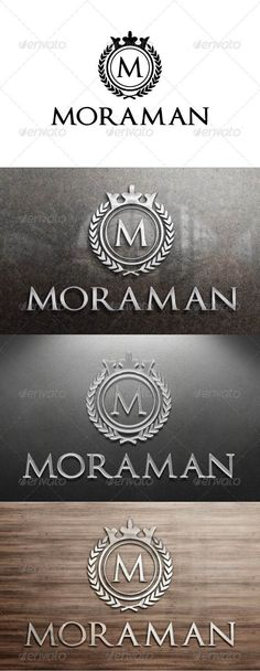 Moraman Logo — Photoshop PSD #r #m • Available here → https://graphicriver.net/item/moraman-logo/3295694?ref=pxcr