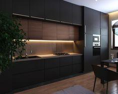 Black appartment & black kitchen - Галерея 3ddd.ru