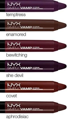I've been looking for the perfect super deep reds, burgundies and purples. I've found it in NYX'S s Simply Vamp Lip Creams . The only problem is finding them in Canada. #sigh #canuckproblems