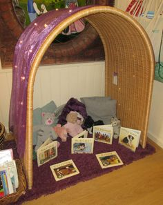 Cosy Book Area For 1 Year Olds Baskets On Wall