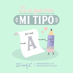 ¡Y qué bien pegamos los dos! #mrwonderfulshop #felizmiércoles  You really are my type. We go so well together.