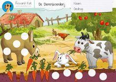 De Dierenboerderij Beloningskaart | Gratis Beloningskaart - te gebruiken als verzamelspelbord met schijfjes