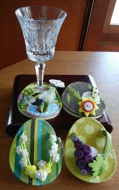 Spring Vineyard Flip Flop Wine Glass Attachable Coasters by Carrie & Company. $24.75. Set of 4 coasters. Great gift ideas for your girlfriend. Give them as a hostess gift.