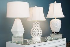 White lamps are so chic.