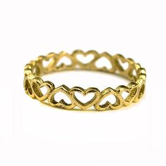 14k Gold Infinity Heart Wedding Band Infinity Jewelry by netawolpe, $198.00