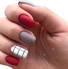 Square Nail Designs, Short Nail Designs, Gel Nail Designs, Nails Design, Xmas Nails, Holiday Nails, Christmas Nails, Christmas Nail Designs, Green Christmas