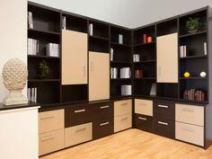 Une réalisation Rangeocean combinant rangements avec tiroirs et caissons + bibliothèque. La totalité imaginée et réalisée sur mesure. #bibliothèque