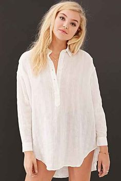 BDG Checked Cotton Popover Shirt - Urban Outfitters