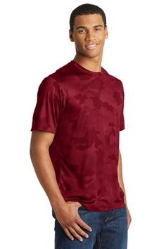 Sport this year's color and a hot new camo pattern in this Sport-Tek CamoHex Tee.