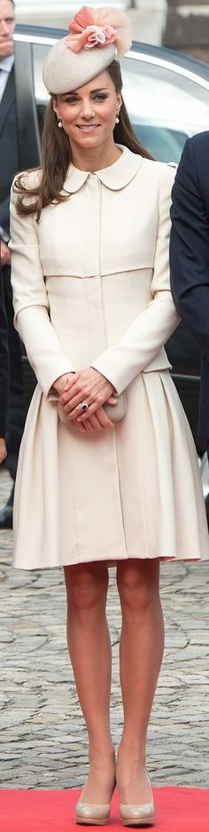 Catherine, Duchess of Cambridge In Alexander McQueen – WW1 100 Years Commemoration Ceremony