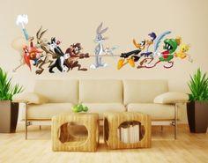 Wandtattoo Looney Tunes Tauziehen