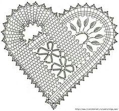 Crochet heart pattern. Patrón corazon de ganchillo.