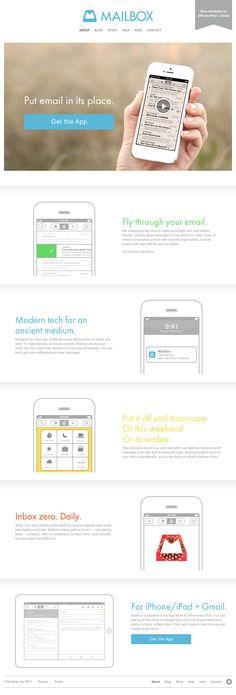 Mailbox iOS App #flat #website