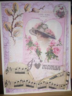 Carte fête des mères vintage