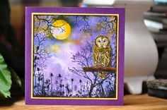 Stamps: Crafty Individuals (owl) and Art Journey