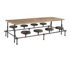 buffet bois de sapin et m tal naturel et noir l110 dessertes pinterest m taux et buffet. Black Bedroom Furniture Sets. Home Design Ideas