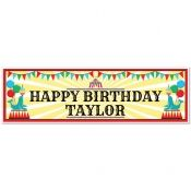 Circus Party 5 ft. Large Personalized Banner