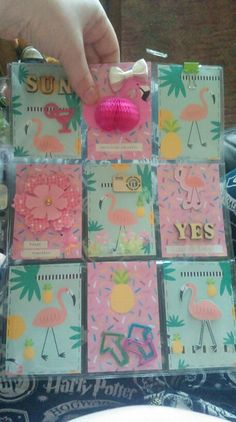 Flamingo & Pineapple pocket letter I received from a swap partner :-)