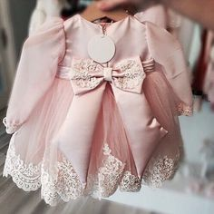 Izabel Dress in Pink! On SALE!! To shop: ittybittytoes.com Or click on the link on our profile