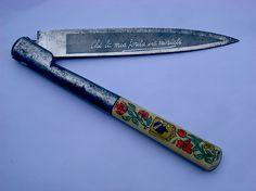 """Corsican vendetta knife. """"che la mia ferita sia mortale"""": """"may my wound be deadly"""""""