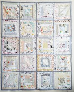 Ok so opinions please! Here is my low volume quilt from the log cabin block swap…