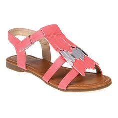 c0042f551e7 Girls  Jelly Beans Line Strappy Fringe Sandal - Little Kid - Coral Sandals