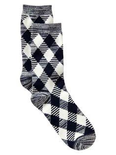Gap argyle socks - navy