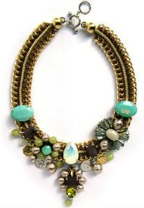 Love this turquoise antique bib necklace...dress me up!