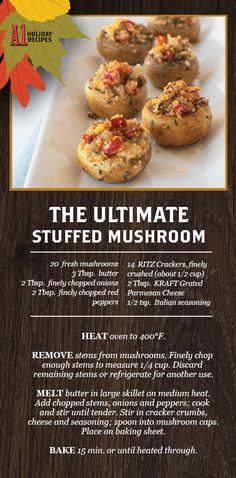 Some people will like A.1. Original Sauce drizzled on their stuffed mushrooms. Others will pretend to be too stuffed. And that's ok.