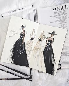 haute couture j adore the new dior 2019 resort collection sketch was made with touchmarker 545287467 Fashion Illustration Portfolio, Fashion Illustration Dresses, Fashion Design Sketchbook, Fashion Design Portfolio, Fashion Design Drawings, Illustration Mode, Fashion Illustrations, Drawing Fashion, Design Illustrations