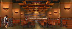 3D Casino Restaurant Design | Interior Casino Rendering | Interior Décor Design | Casino Conceptual Design by I-5 Design & Manufacture