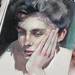 Ksenia Ksu Ksuuu в Instagram: «Watercolor process Like or no? Нравится или нет ? Music @billieeilish»