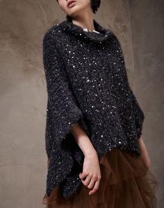 "Brunello Cucinelli High neck sweater Baby alpaca ""Maxi Diamond"" sweater"