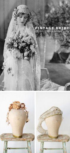 Antique Lace Wedding Veils Vintage antique wedding veils