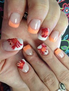 Crab by Viviannailart - Nail Art Gallery nailartgallery.nailsmag.com by Nails Magazine www.nailsmag.com #nailart