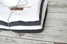 Linen towel set   Set of 4 towels  Pure  linen от pureWHITEspa