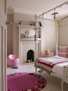 Fun And Modern Girl Bedroom...Discover more decor and organizing ideas for babies to teens @ http://kidsroomdecorating.net