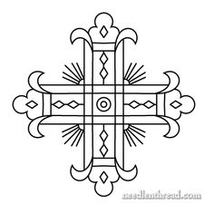 Church Embroidery Pattern: Decorative Cross & a Question – Needle'