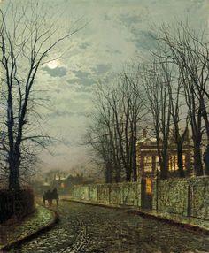 A Wintry Moon - John Atkinson Grimshaw