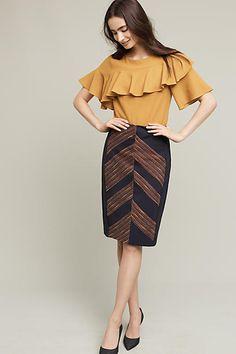 Eva Franco Western Pencil Skirt