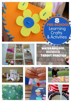 8 Preschool crafts and activities to keep little ones entertained! They might even learn something too! www.skiptomylou.org #preschool #backtoschool