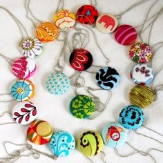 If you have fun scraps of fabric this fabric button necklace would be a creative way to use them up.